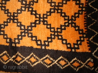 Pile carpet cod. 0510. One of the items added on my new website www.nonplusultra.cloud. Wool traditional dyes. High Atlas area. Morocco. Ait Ouaouzguite Berber tribe. First half 20th. century. Good condition with  ...