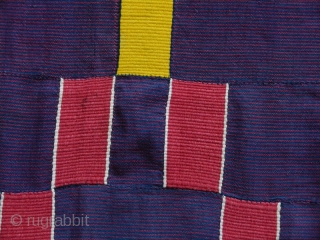 Very unusual Ewe woman's cloth cod. 0743. Handspun cotton. Ghana. Circa 1900. Some neat old patches and faint marks, overall good condition. Measurement: 240cm x 138cm (94 x 54 inches). 