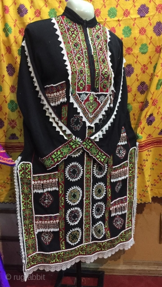 Complete hand embroidered vintage tribal woman dress from swat valley of northern Pakistan, The embroidery is very finely done and exquisite, The dress is in its best condition.  Size  Length 42 inches  ...