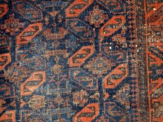 #1C446  Hand made antique collectible Afghan Baluch bagface 2.4' x 2.6' ( 74cm x 79cm) 1880.C