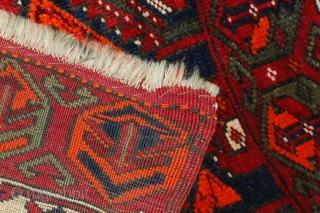Handmade antique collectible Turkish Yastik rug 2' x 3,6' (61cm x 110cm) 1890s - 1B487