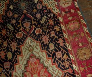Handmade antique Caucasian Karabagh rug 4.5' x 11.6' ( 137cm x 353cm ) 1880s - 1B492