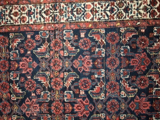 #1C448  hand made antique Persian Malayer runner 3.5' x 13.5' ( 108cm x 412cm ) 1920.C