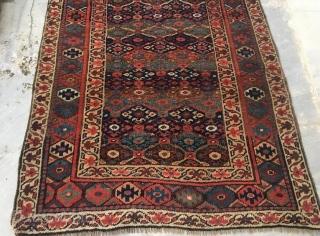Antique persian veramin rug with little damage 266 x 100 cm