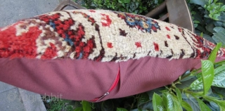 Antique rug pillow in good condition .60 x 48 cm