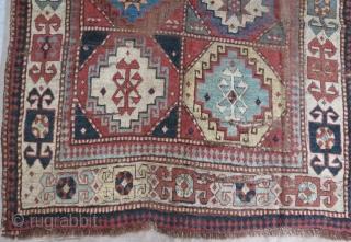 18 th century zakatala rug fragment 150 x 120 cm  www.eymen.com.tr