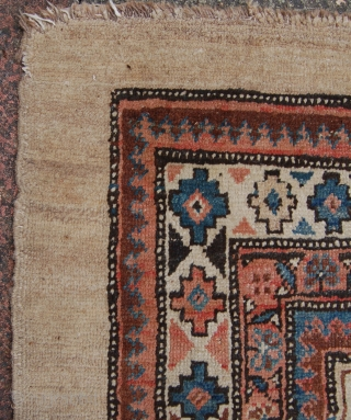 Decorative Sarab rug. Nice square size and decent condition. Needs a clean.184 x 135cm.