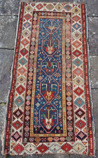 An interesting east caucasian rug. 178 x 89cm.