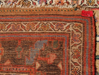 Antique Bijar area village rug. Çirca 1880. 220 x 115cm. Just a charming mina khani design weaving. No repairs, good wool and lovely organic colours. Pile lower at the bottom end.