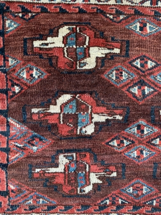 Yomut chuval. Mid 19th century. A nice solid example. Organic dyes.