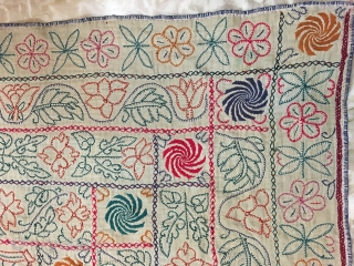 Kantha from  Jhikargachha village of Jessore District in the Division of Khulna, Bangladesh know for its finely hand embroidered work vintage Kanthas to its best embroidery  with the huge size  ...