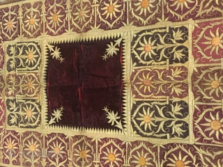 Bichyat velvet kala batu work from the royals of Lucknow Uttar Pradesh india used in their  court .the bichyat is rare to find in this good condition and size mainly find  ...