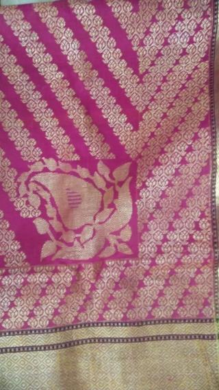 Vintage real Zari Pitambari sari in pink colour from Varanasi Uttar Pradesh made for the royal family's in India.the sari is in mint condition.