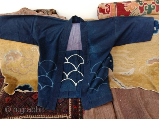 very nice japanese fisherman coat early 20th c small price great charisma..