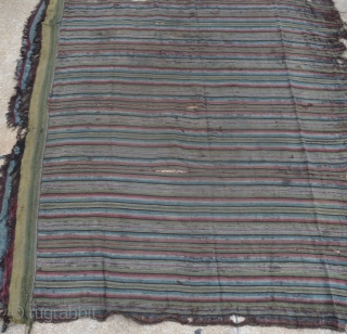 by many points is this old tibetan stripe-weaving textile a rarity: