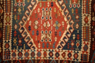 Kagizman Kilim, mid. 19th century, East Anatolia, 365x150cm Beautiful saturated natural colors. Rare triple-bordure type. Wool on wool, some oxidized browns here and there, good overall condition. more pictures here: https://picasaweb.google.com/pazyrikcarpet Feel free to ask  ...