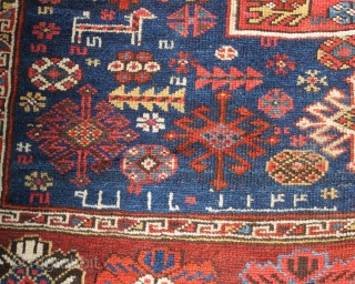 Inv#15871  This exceptional corridor carpet exhibits all the hallmarks of woven dynamism that great Kurdish rugs are known for. Large elements are balanced against smaller motifs, colors are masterfully dyed and matched, and  ...