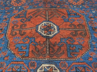 """Baluch octagon star bag, fresh to the market out of a New England collection. 2'11""""x2'8"""" Inv#19567"""