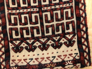 A very nice Antique Turkmen Tent band Fragment ca.1880,size:144,5x30 cm,back side has been sewn by a white cloth.pls not to hesitate to ask me any question.shipment from Munich-Germany