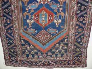 A nomadica Bakhtiari Rug,circa 1900 jh,Beautiful Colours,animals,flowers and other tribal motife.