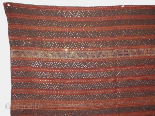 Tapis Cermuk, Lampung Region, South Sumatra, Indonesia. Cotton with mirrors and silk   126  x 115 cm A similar tapis, in the collection of Leidens Volkenkunde Museum, the Netherlands, is dated from  ...