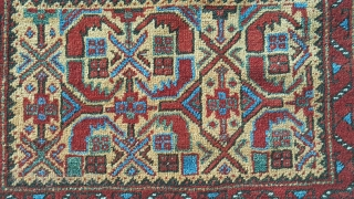 Afshar bagface. Wool on wool natural color's and very good conditie. Size 58x72 cm
