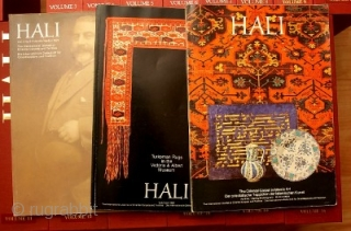 Set of Hali issue 1 thru 138 in fine condition with Hali publications protective slip cases for each volume.