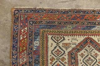 "Shrivan prayer rug dated ""1862"" 4'1"" x 3'5"""