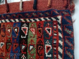 Antique Qashqai bag in perfect condition. 53/45 cm.