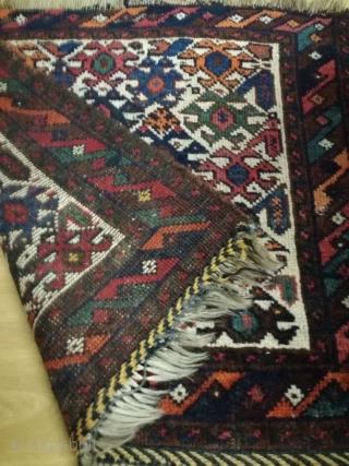 An antique Qashqai bagface with 70/60 cm.