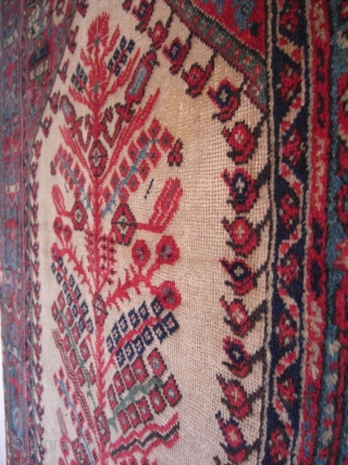 An old Anatolian prayer rug on wool foundation. 180 X 118 cm. Good shape with good pile. A small repair and small open part at left selvage (pic 4).
