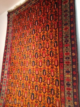 An antique Kurdish runner with 340/100 cm. Very good condition, wonderful colors and powerful.
