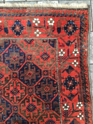 Antique Baluch with 147/94 cm. Good condition with reduced browns.
