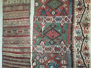 Two antique anatolian textiles. 130/70 and 110/44 cm.