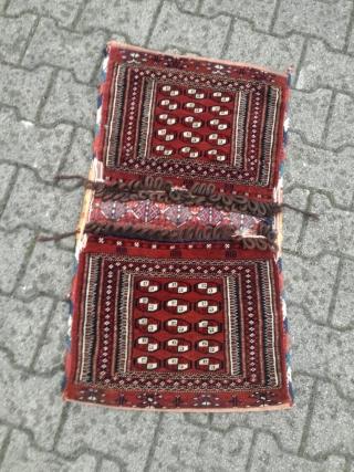 An old turkoman saddle bag (Tekke) in wonderful condition. 85/45 cm.