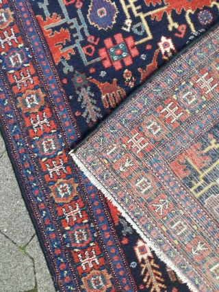 An old vegetal Senneh rug with nice 140/110 cm. Good pile.