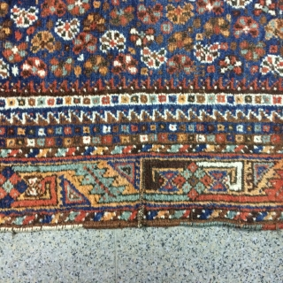 An old Gashgai carpet with 380/140 cm. Good shape for its age, some signs of use.