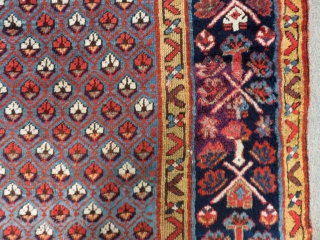 Antique Shahsevan Runner Rug full condition All Colours Natural Circa 1880.90 Size.320x104 Cm