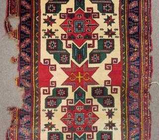 Antique Caucasian derbent Star Rug Circa 1900 Size.160x100 Cm