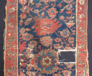 16 or 17th Century West Anatolian Ushak Border Size.194x63 Cm