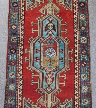 Circa 1890-1900 Central Anatolian Konya Yastık Size.130x64 Cm