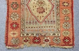Second 19th Century East Anatolian Sivas Yastık Size.76x65 Cm