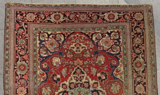 Antique Persian Heriz Serapi Small Rug Size.172x140 Cm