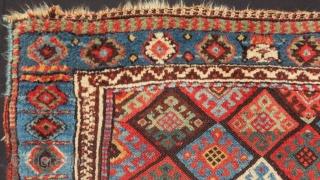 Antique Persian Jaff Bagface Size.100x64 Cm