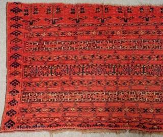 Second 19th Century Antique Türkmen Ersari Chuval Rug  Size.168x92 Cm