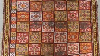 Mid 18th Century Cenral Anatolian Konya Bozkır Rug Size.180x142cm