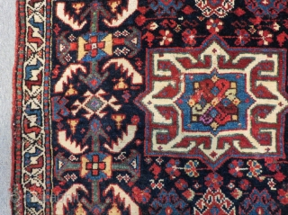 Antique Qashqai Khamseh Bagface Some places have silk Size.73x56 Cm