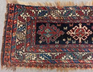 Antique Persian Veramin Mafrash Rug Size.100x42 Cm