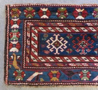Antique Caucasian Mafrash Rug All Colours Natural Circa 1880-90 Size.120x60 Cm