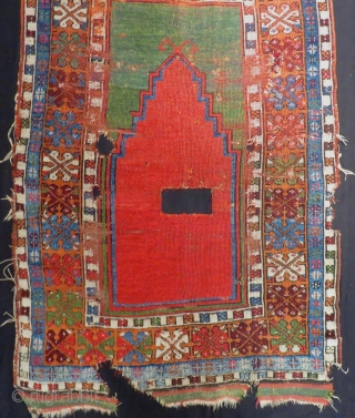 Early 19th Century Central Anatolian Konya Prayer Rug Size.137x97 Cm